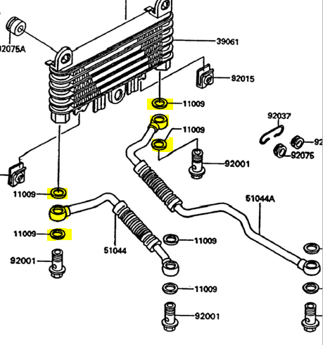 Engine Oil Cooler Leak