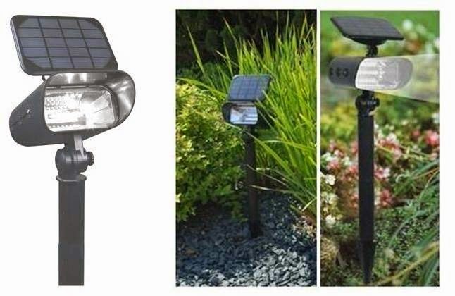 Punto de luz solar lampara solar jardin 8 leds foco - Lamparas solares de jardin ...