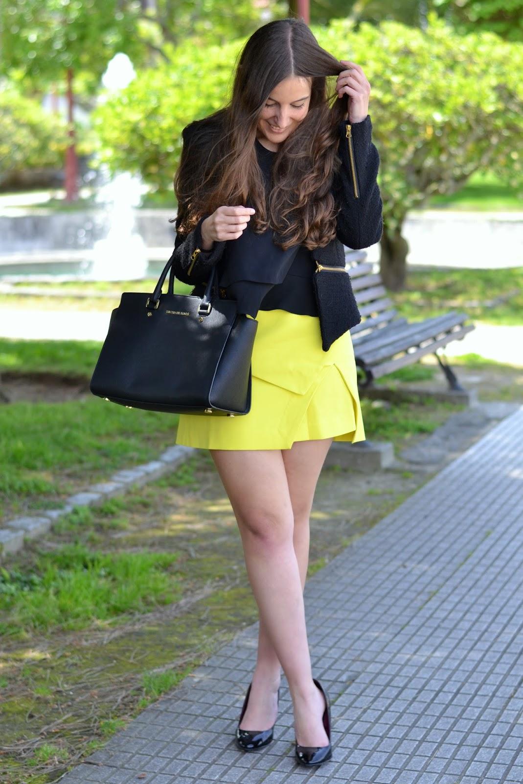 front row shop asymmetrical yellow skirt