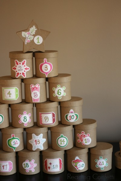 Advent Calendar Wrapping Ideas : Unwrapped book advent calendar reading confetti
