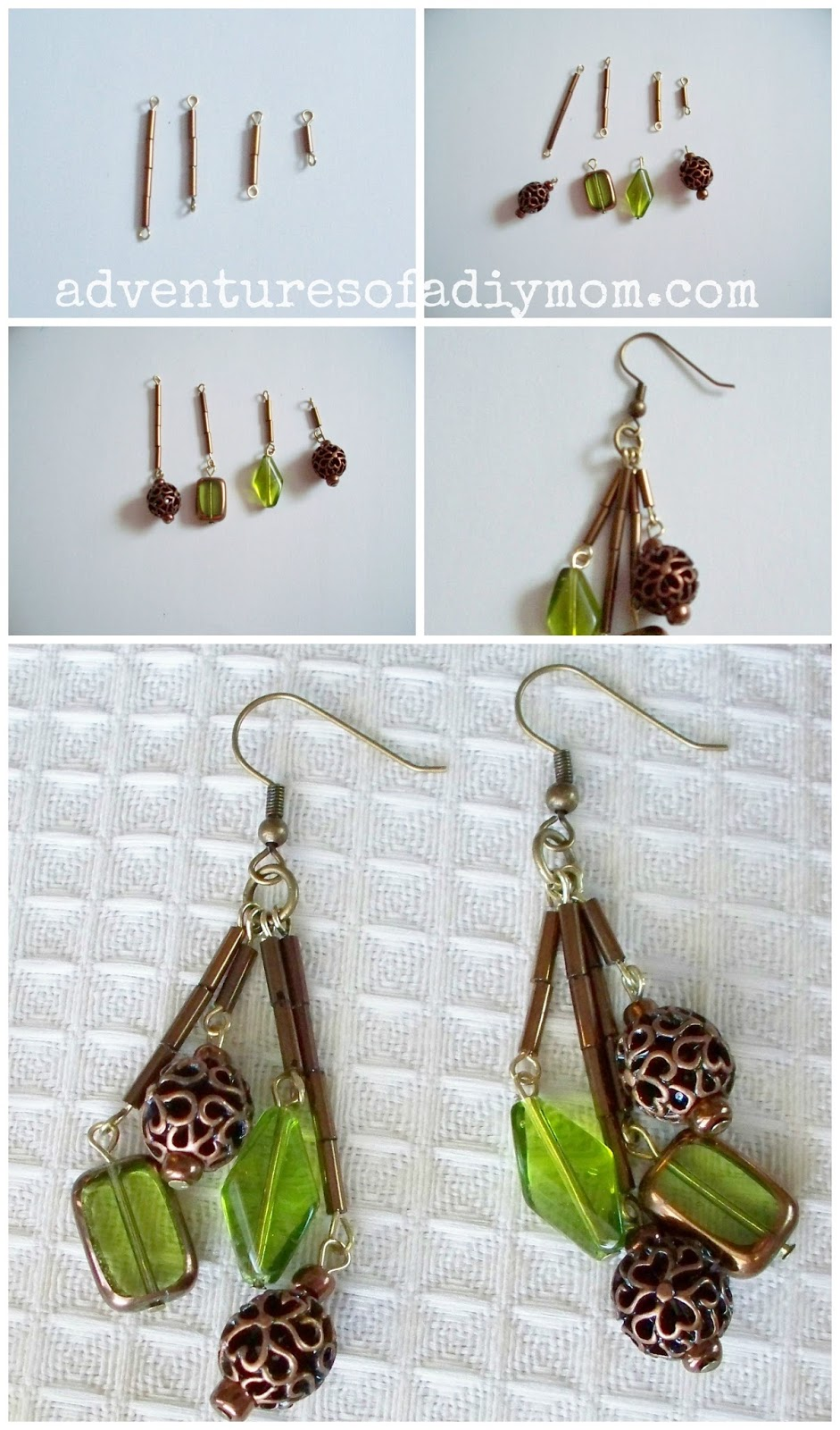 Turn a necklace into earrings
