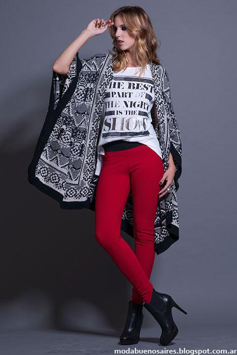 Ponchos moda invierno 2015 Rosh.