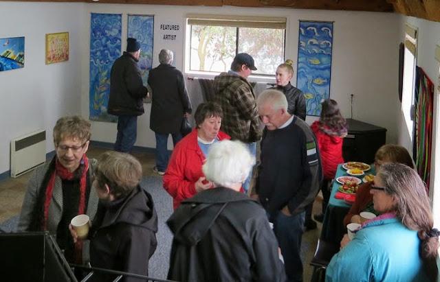 ArtSaturna Spring Show 2014 opening reception, Saturna Island, BC
