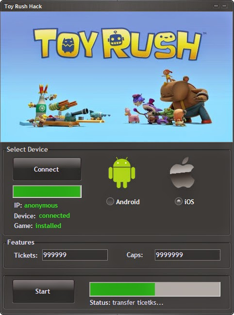 screen Toy Rush Hack v5.5 for Android/Ios Download
