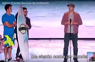 Ashton Kutcher en la charla