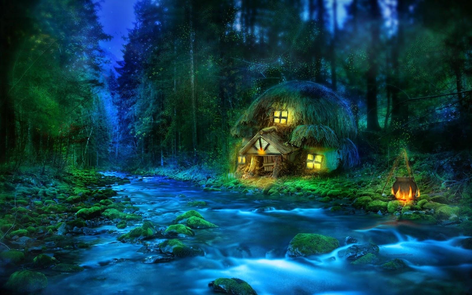 Il rifugio degli elfi paesaggi fantasy for Paesaggi fantasy immagini