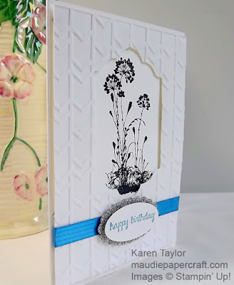 Stampin' Up! Serene Silhouettes card with Arrows embossing folder