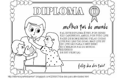 Diplomas e Certificados para o Dia dos Pais.