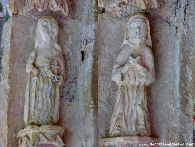 Detalle arquivoltas ermita Sta. María de la Hoz