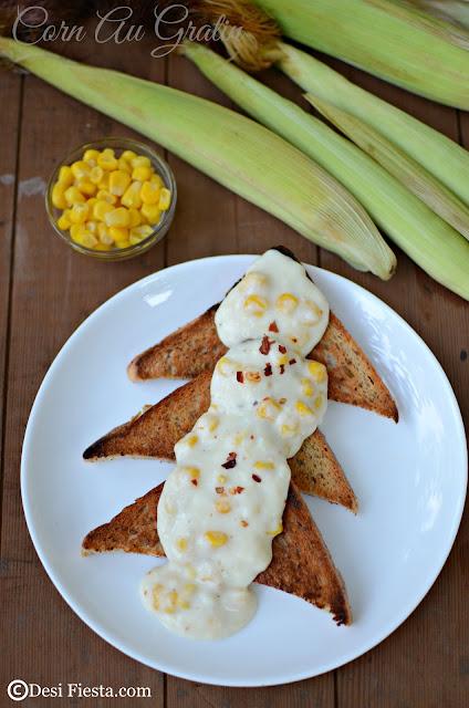 Corn on Toast Recipe