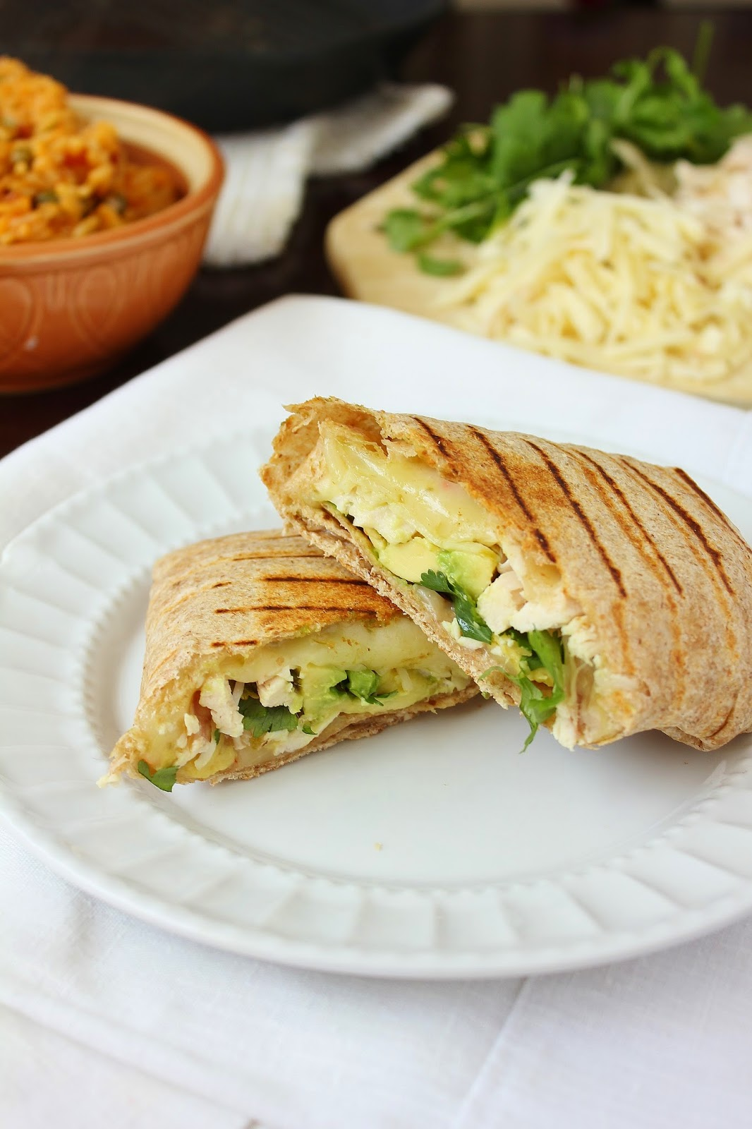 Chicken Avocado Grilled Wrap