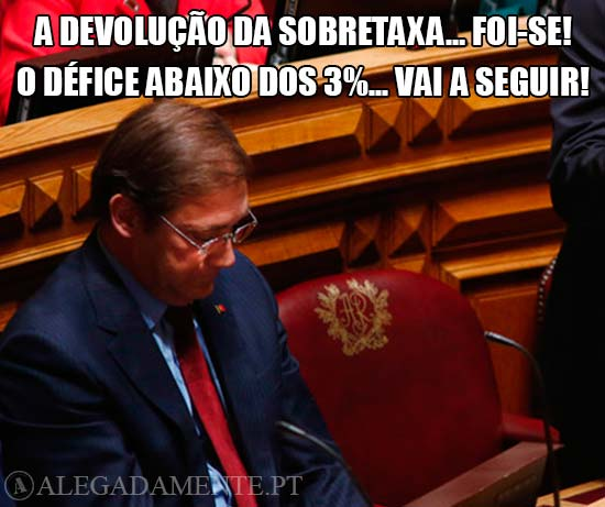 Imagem de Passos Coelho - A Devolução da Sobretaxa…foi-se! O Défice abaixo dos 3%... vai a seguir!