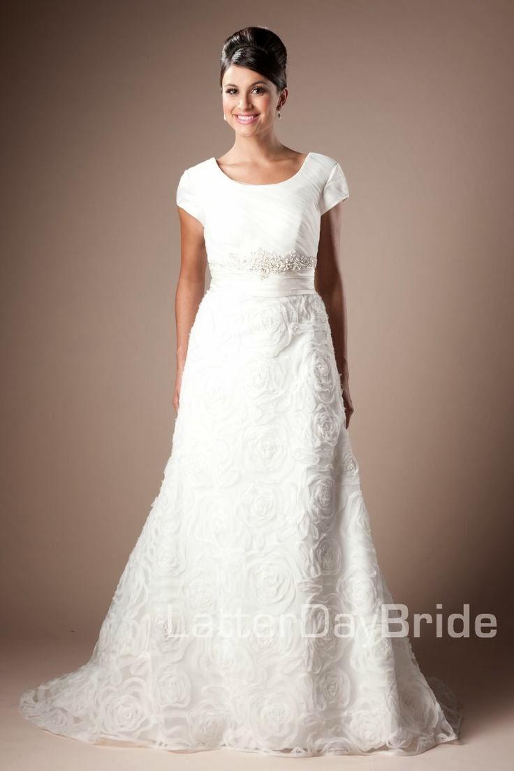 Modest wedding dresses latter day allure david for Allure modest wedding dresses