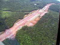 Foto mostra desmatamento para a construção do rodoanel