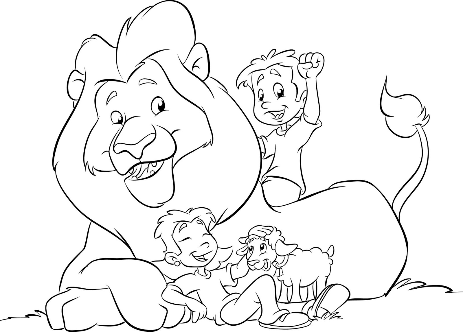 Free Coloring Pages Of Lion And Lamb