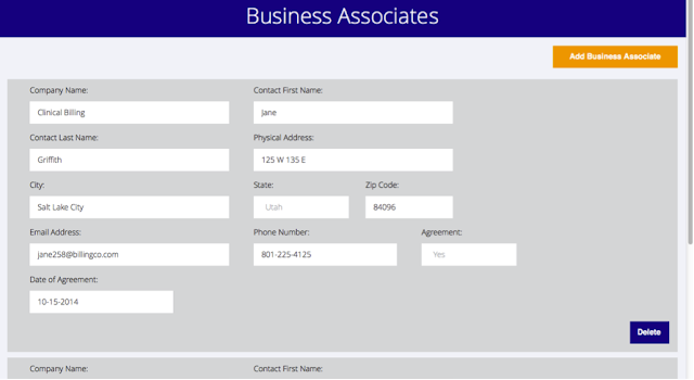 Keep track of business associates