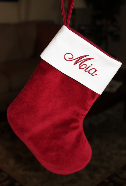 Velveteen Christmas Stocking