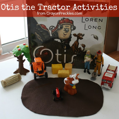 otis the tractor coloring pages - crayon freckles otis the tractor book activities