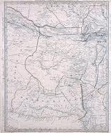 نقشه مستقل بلوچستان در سال 1835 م