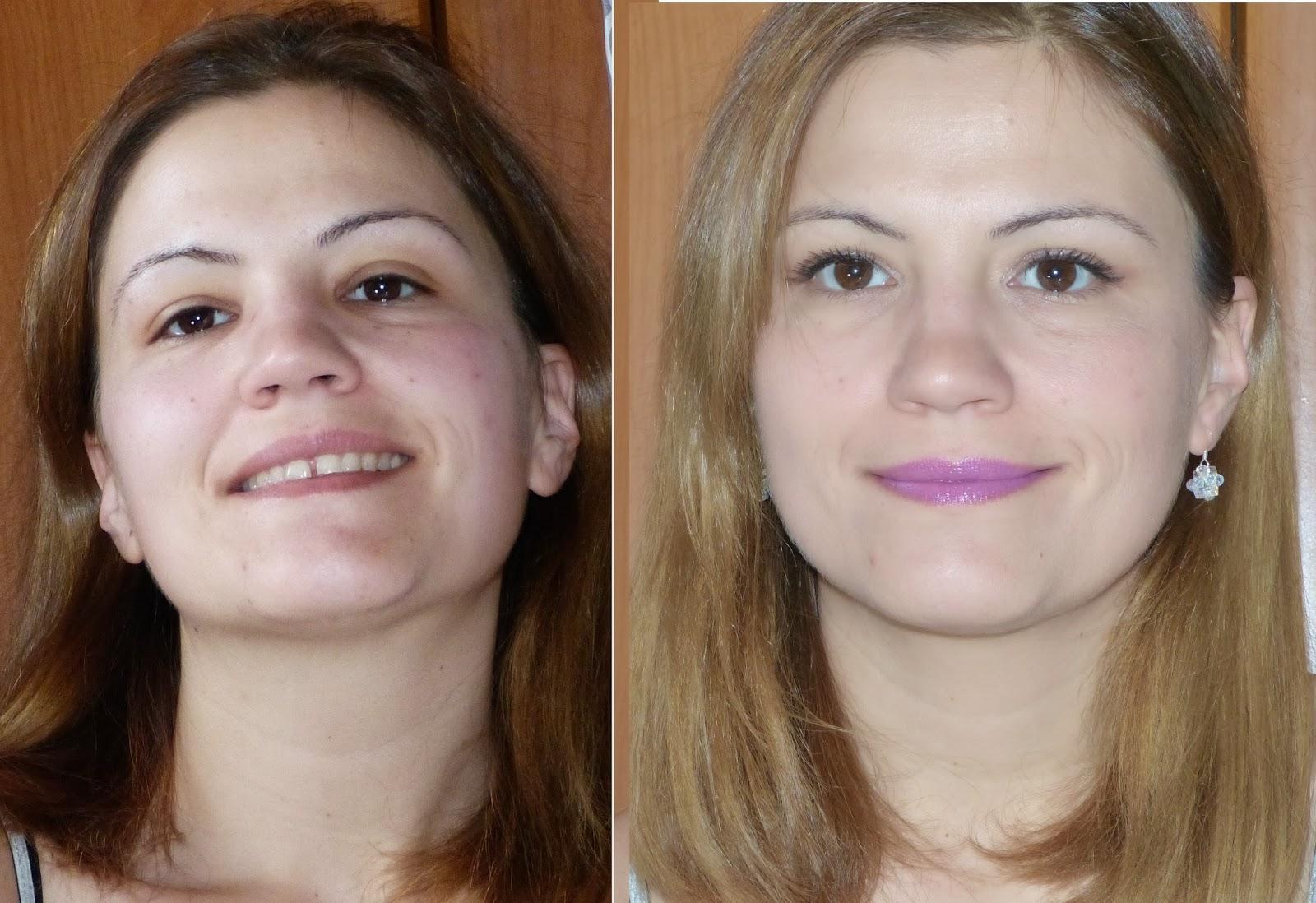 con/sin maquillaje