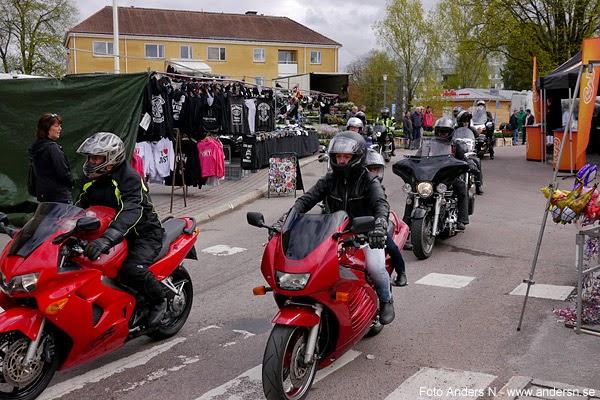 Trafikens dag, Säffle, mc, motorcykel, motorcyklar, kortege