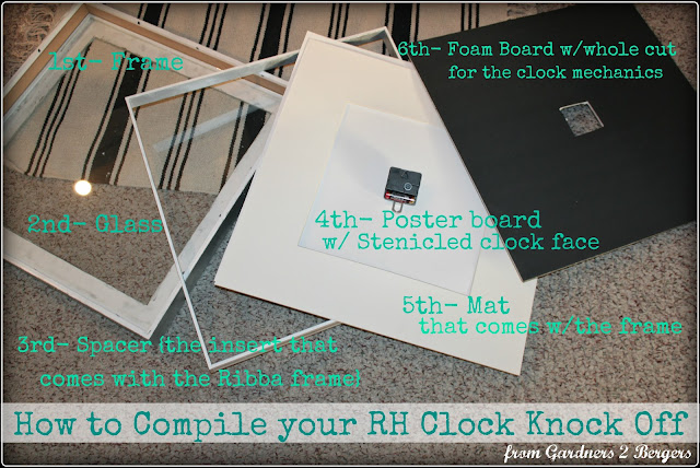 Faux-Zinc-Clock-from-Picture-Frame