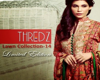 Thredz Summer Dresses Lawn Collection 2014