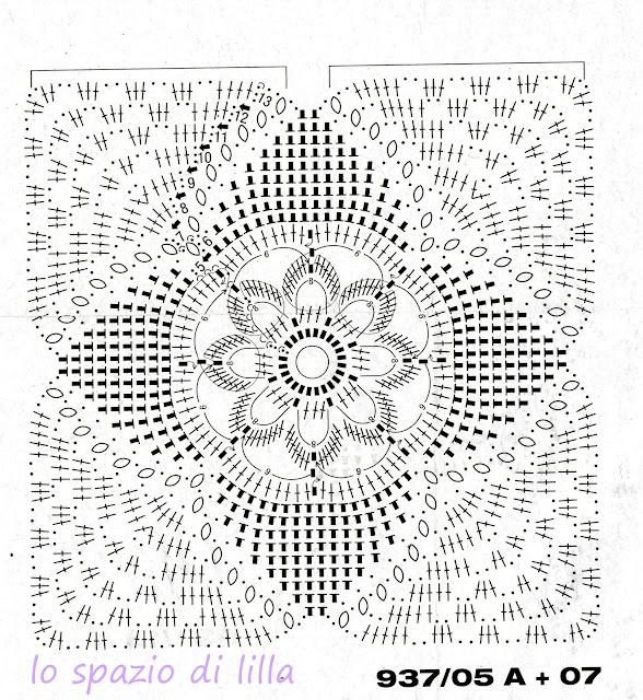 Lo spazio di lilla settembre 2012 - Schemi piastrelle uncinetto ...