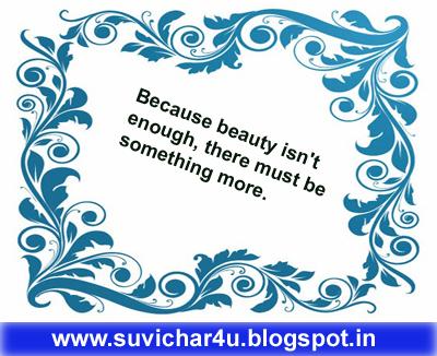 Beacuse beauty isnot