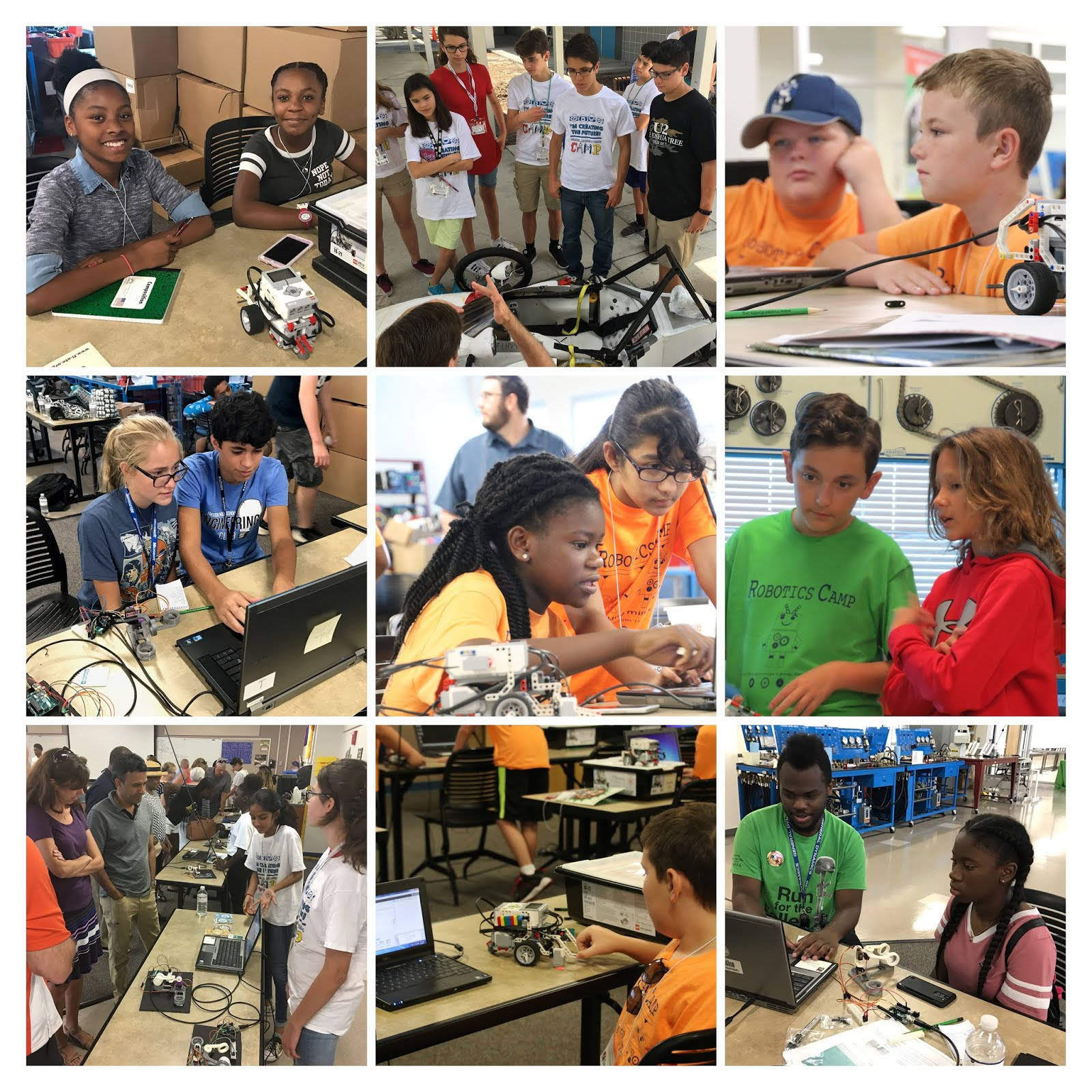 2017 Robotics Camps Photo Montage