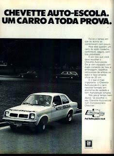 propaganda Chevette - Auto Escola - 1978