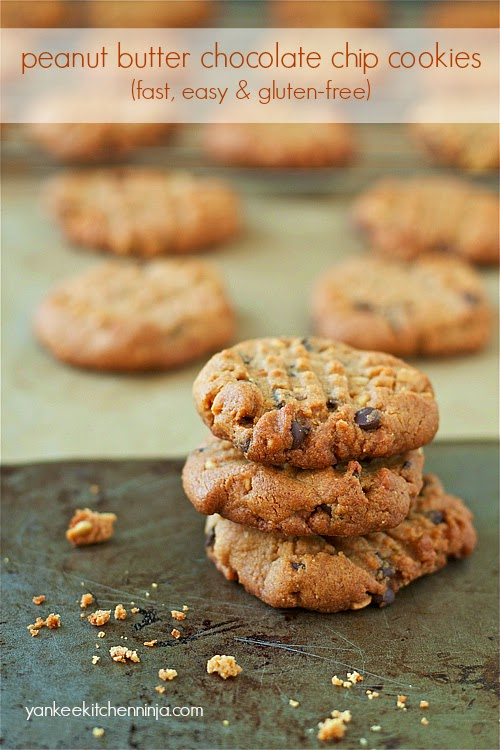 peanut butter and chocolate chip cookies -- gluten--free