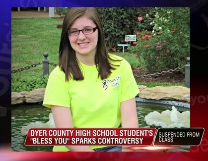 Student suspended for saying 'bless you' after classmate sneezed