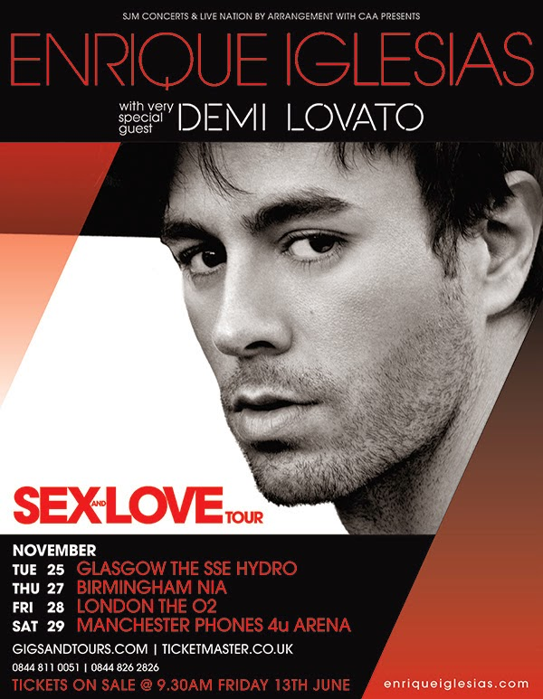 Enrique Iglesias Sex and Love UK tour