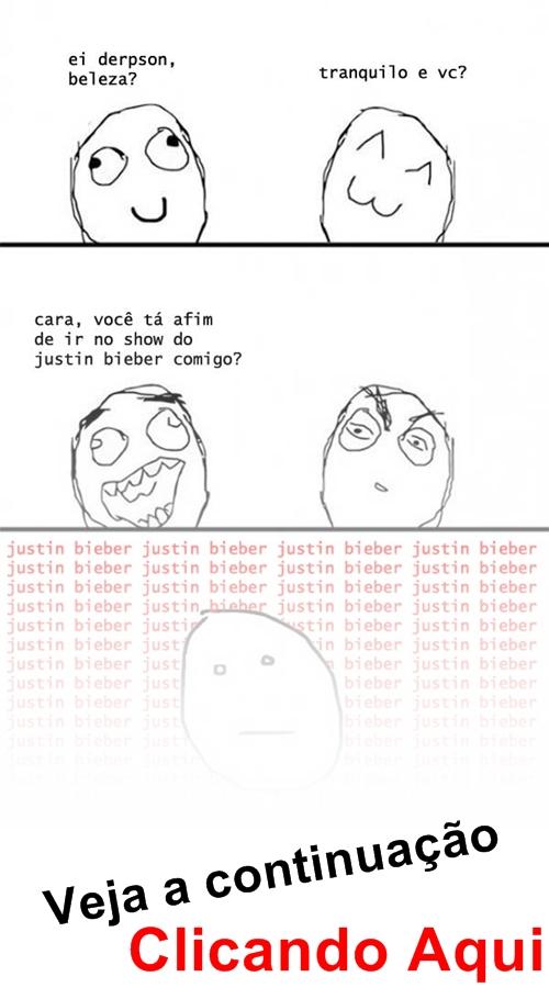 Você quer ir no Show do Junstin Bieber? [Versão: Naruto]
