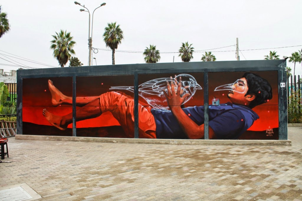 JADE just finished working on this sweet new piece at the Museo de Arte Contemporáneo of Lima, Peru.