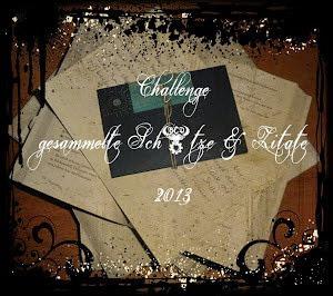 Die Challenge gesammelte Schätze & Zitate geht auch in 2013 weiter