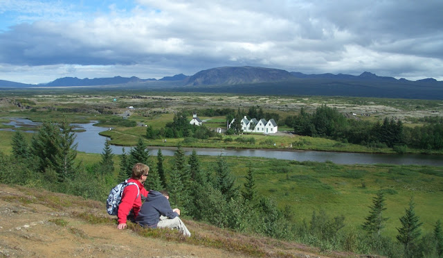 View of Thingvellir in Iceland