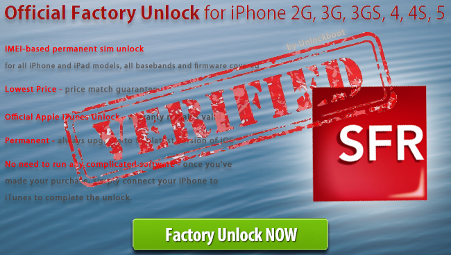 SFR iPhone Unlock