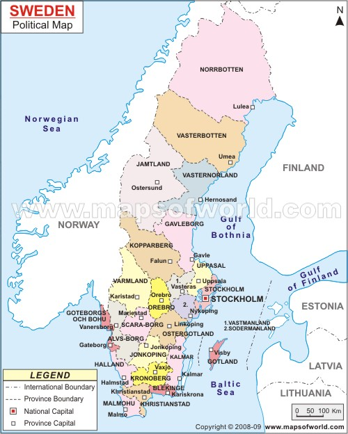 Sweden Map Regions - Sweden map regions