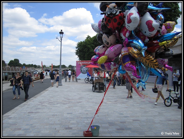 Brunch Bazar Faust Paris Pont Alexandre III juin 2013 ballons