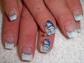 Bonitos y originales modelos de uñas navideñas