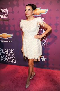 Eva Longoria strikes a pose on the red carpet at  BET's Black Girls Rock 2012 Show