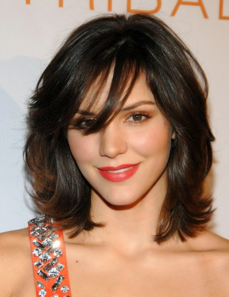 short hairstyles with bangs and curls 2015