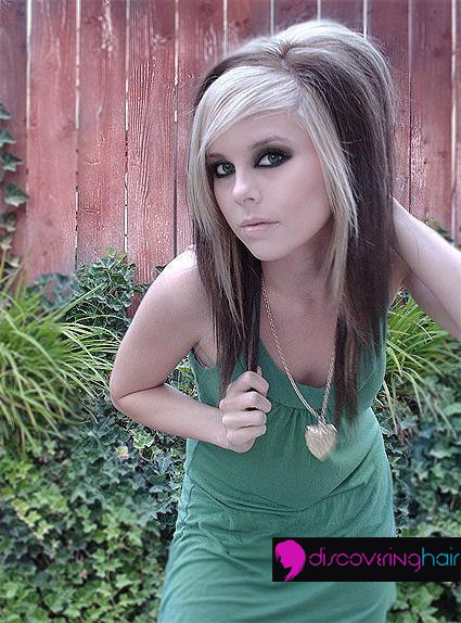 emo hairstyle pics. Cute emo hairstyle for girls