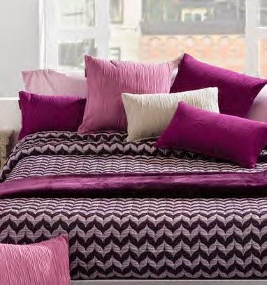 Cojines decoración colores rosas