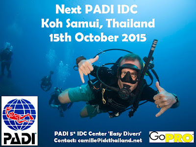 Next PADI IDC on Koh Samui, Thailand starts 15th October 2015
