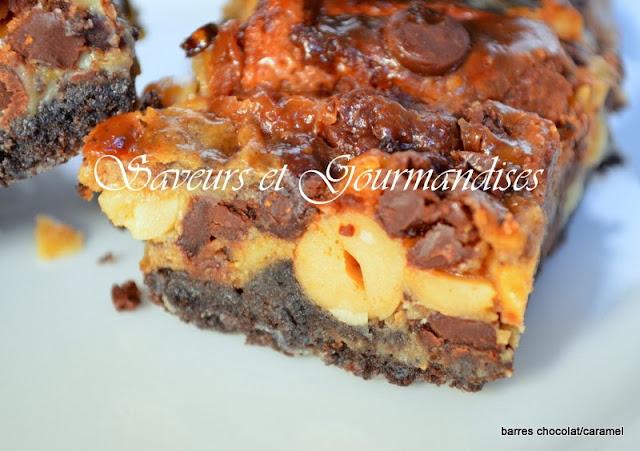 Barres Croquantes Chocolat et Caramel. Bars Snickers Oreo Caramel