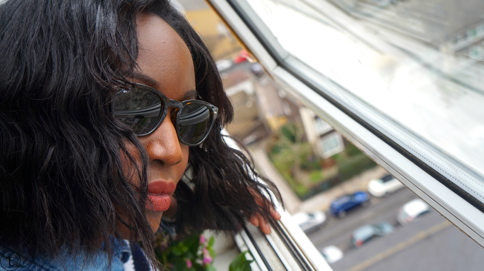 selfie wearing ray ban sunglasses outfit post it's true blog