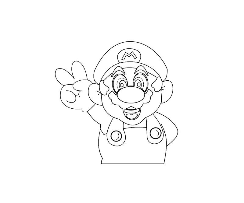 #8 Super Mario Coloring Page